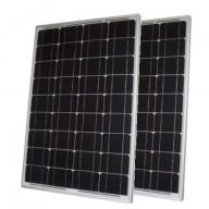 Solpanel,  2 x 50 watt, 12 volt, monokristallin