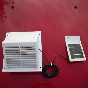 MiniVent Ext med separat solpanel, vit