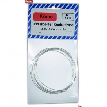 Silverpläterad koppartråd 1,5 mm