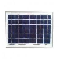Solpanel,  10 watt, 12 volt, polykristallin