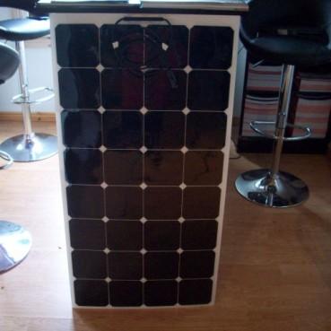 Solpanel 100W 12V Semiflex, små mått