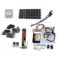 Husbilspaket 100W 12V med Schaudt regulator och Solara hörnprofiler