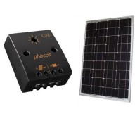 50W solpanel med regulator