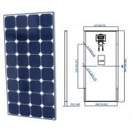 Solpanel 110 watt 12V svart