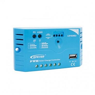 Solcellsregulator 12V 10A med USB